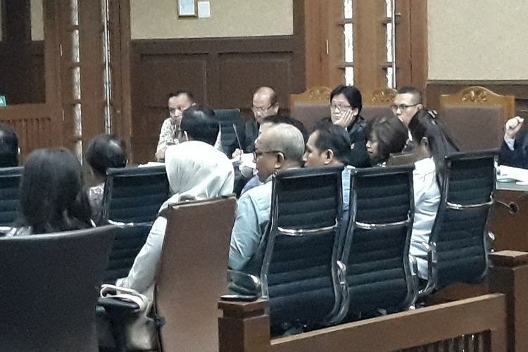 Pengusaha money changer bersaksi di sidang kasus korupsi pengadaan e-KTP di Pengadilan Tipikor Jakarta, Selasa (21/8/2018).
