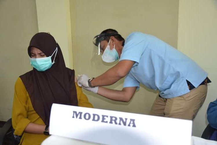 Vaksinasi moderna untuk Nakes RSUD Nunukan Kaltara