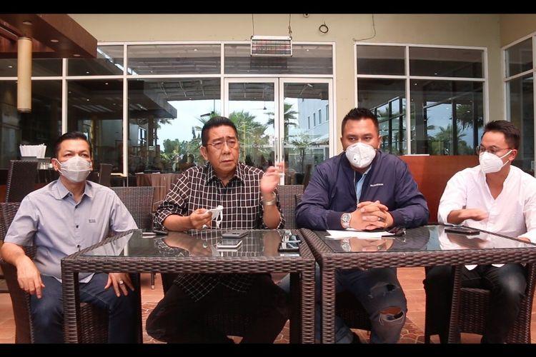Komprensi pers kuasa hukum Zul Bintang terkait dugaan tindak pidana penipuan biaya kampanye RP 5 milliar di Banda Aceh, Kamis (04/02/2021).