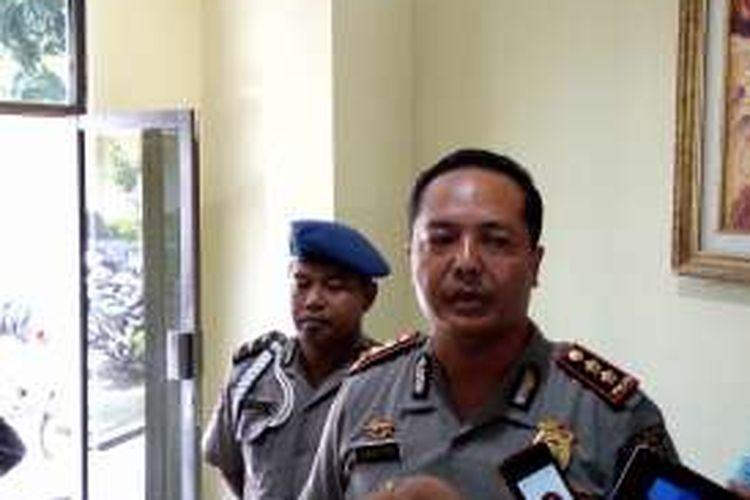 Kapolres Bantul AKBP Dadiyo saat menjelaskan penangkapan tiga pelaku penembakan menggunakan Airsoft gun di Bantul