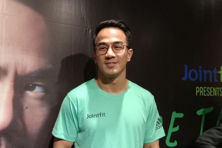 Joe Taslim dalam sebuah acara di CGV Pacific Place, Jakarta Selatan, Kamis (1/8/2019).
