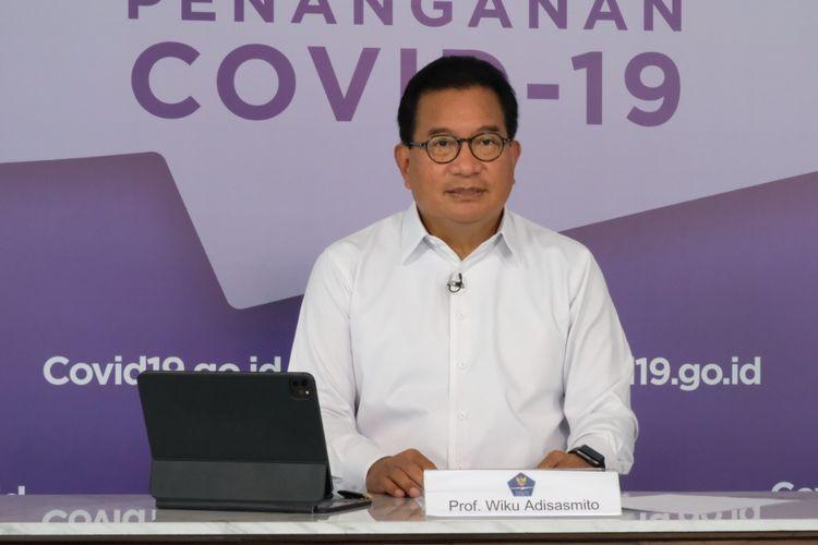 Juru Bicara Satgas Penanganan Covid-19 Wiku Adisasmito dalam agenda Keterangan Pers di Graha Badan Nasional Penanggulangan Bencana (BNPB) yang juga disiarkan kanal YouTube Sekretariat Presiden, Selasa (5/10/2021).