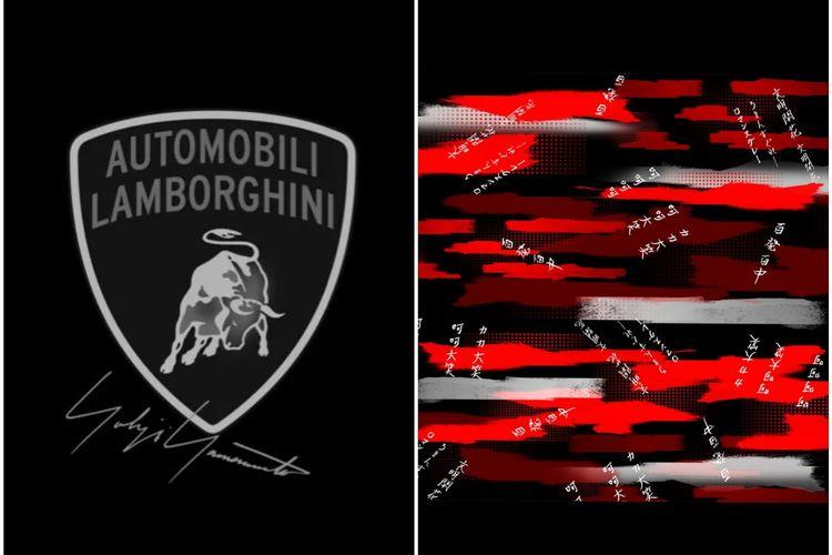 Dua desain yang menggambarkan kerja sama kolaborasi antara desainer Jepang Yohji Yamamoto dan perusahaan supercar Lamborghini.