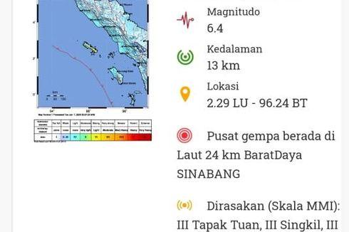 Gempa Bumi Sinabang Aceh Terasa hingga Kabupaten Bener Meriah, Warga Panik