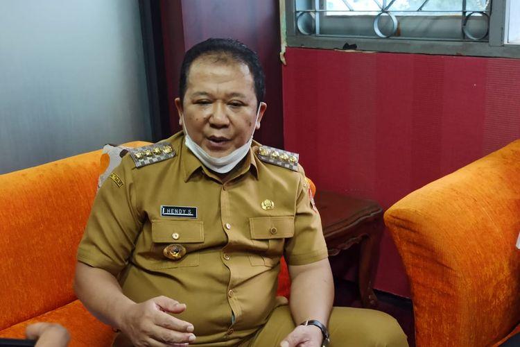 Bupati Jember Hendy Siswanto  saat ditemui di DPRD Jember Senin (29/3/2021)
