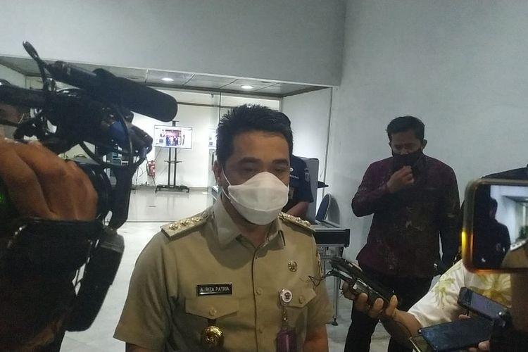 Wakil Gubernur DKI Jakarta Ahmad Riza Patria saat ditemui di Balaikota DKI Jakarta, Senin (28/12/2020)