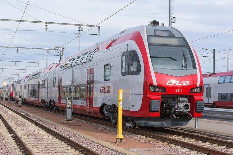 Ilustrasi transportasi kereta di Luksemburg.