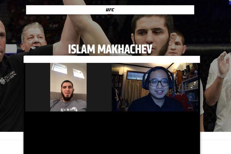 Wawancara eksklusif Kompas.com dengan petarung kelas ringan UFC Islam Makhachev pada Rabu (14/7/2021) pagi hari WIB. Petarung asal Dagestan, Rusia, tersebut merupakan anak didik Khabib Nurmagomedov.