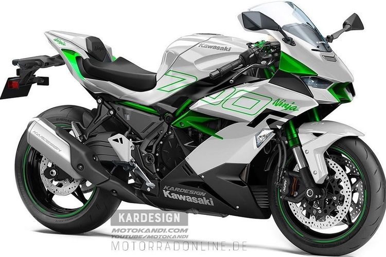 Rendering Kawasaki Ninja 700