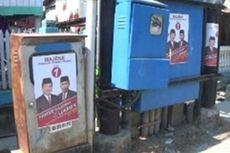 Tiga Paslon Bupati Majene Pasang Alat Kampanye secara Serampangan