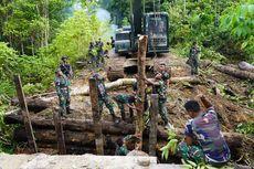 TNI-Polri Perbaiki Jembatan yang Rusak akibat Ulah KNPB di Maybrat