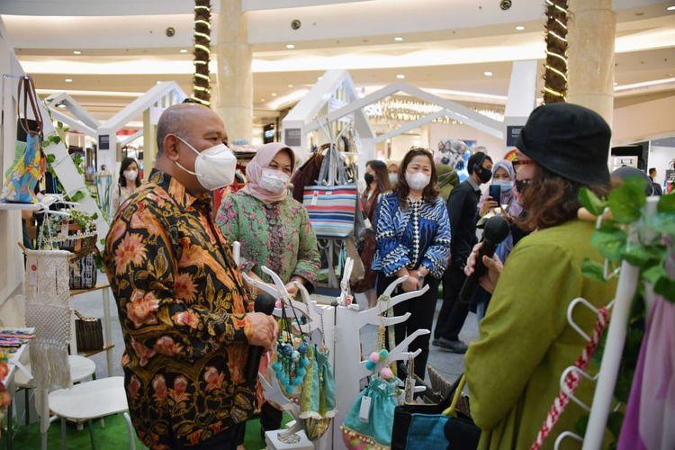 Sekretaris Jenderal Kementerian Perdagangan Suhanto, saat membuka secara resmi In Store Promotion 2020, di Mal Kota Kasablanka, Jakarta, Rabu (18/11/2020).
