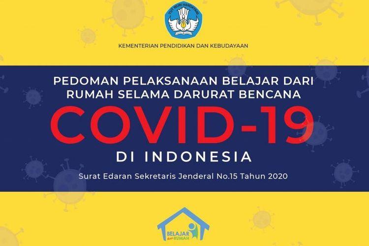 Pedoman pelaksanaan belajar dari rumah selama darurat Covid-19.