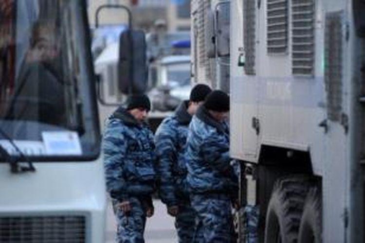 Pasukan kementerian dalam negeri Rusia.