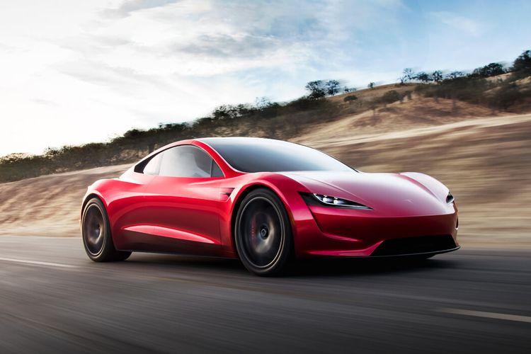 Ilustrasi Tesla Roadster