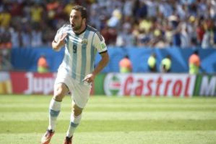 Striker Argentina, Gonzalo Higuain.
