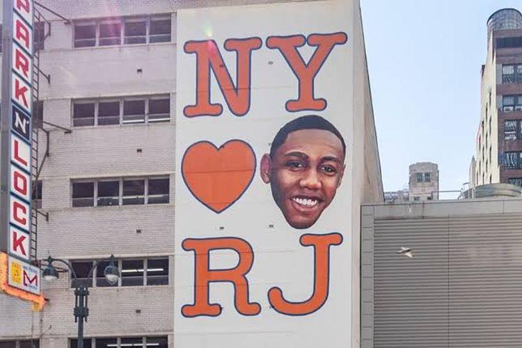 Mural RJ Barrett dengan Puma