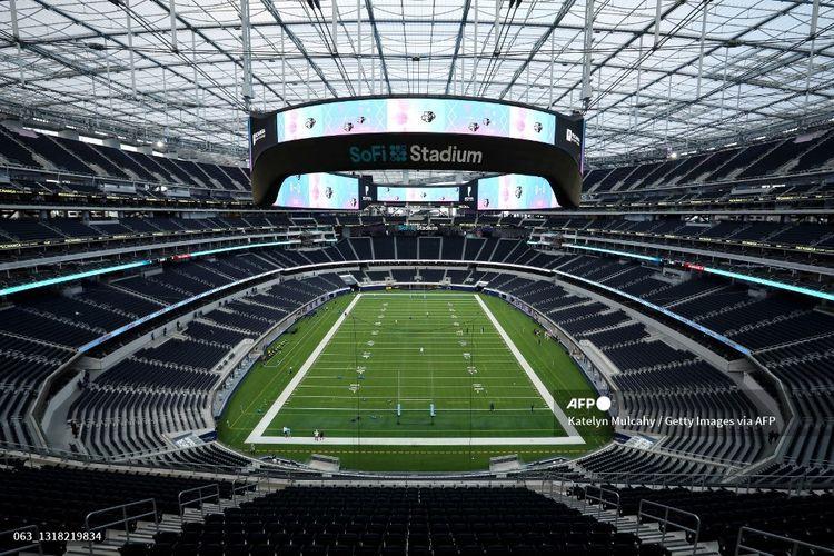 Penampakan SoFi Stadium menjelang pertandingan LA Giltinis dengan Utah Warriors pada 15 Mei 2021.