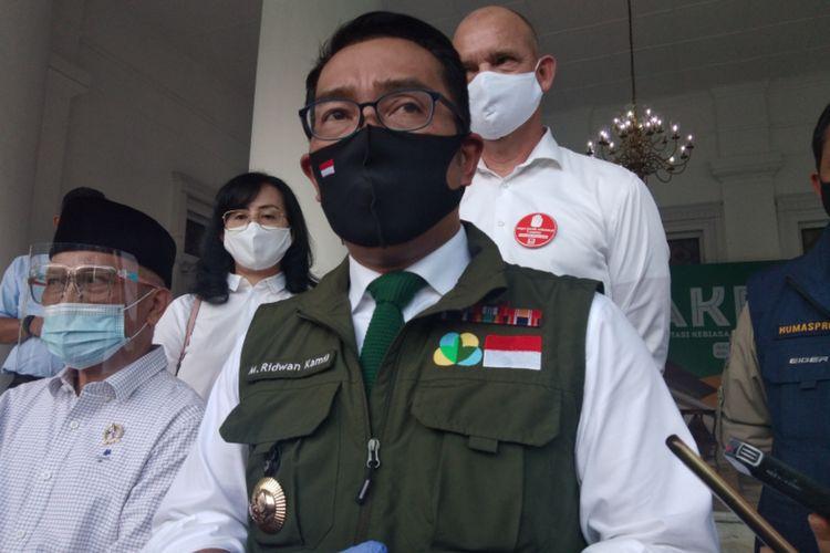 Gubernur Jawa Barat Ridwan Kamil saat ditemui di Gedung Pakuan, beberapa waktu lalu.