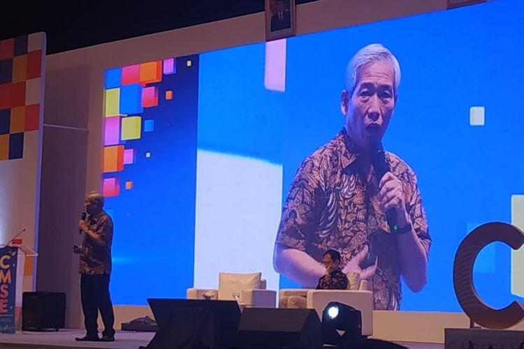 Investor saham kewakan Lo Kheng Hong membagikan kisah suksesnya berinvestasi di pasar modal pada gelaran Capital Market Summit & Expo 2019 di Jakarta Convention Center, Jumat (23/8/2019).