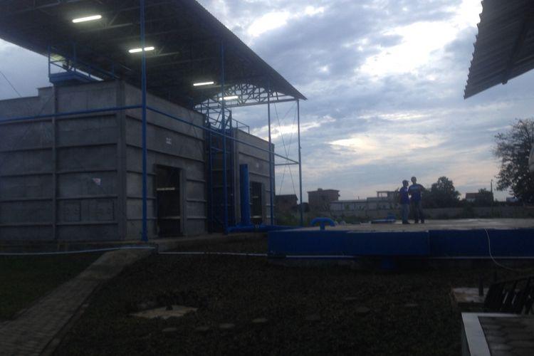 Water Treatment Plant yang berada di PT Kawasan Industri Wijayakusuma, di Kota Semarang, Rabu (23/5/2018)