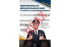 [HOAKS] Rekrutmen Formasi Kondektur PT KAI pada 12-16 Maret 2020