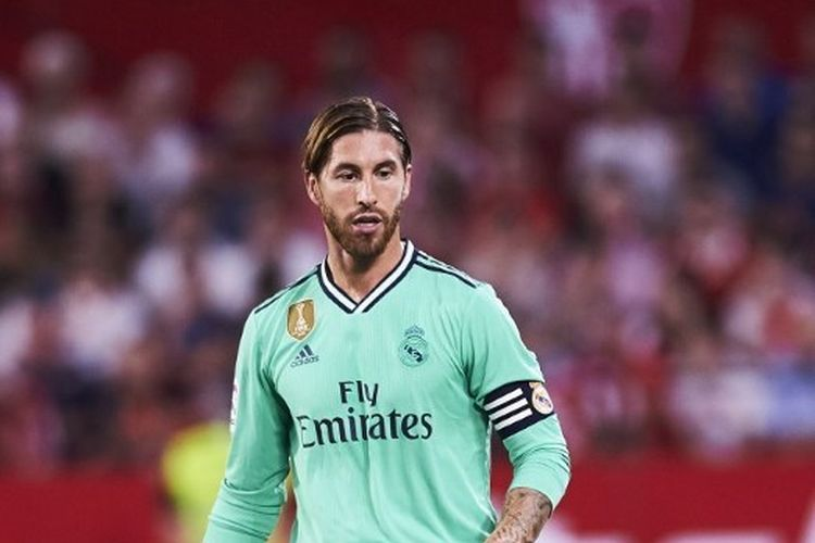 SEVILLE, SPAIN - SEPTEMBER 22: Sergio Ramos of Real Madrid CF in action during the Liga match between Sevilla FC and Real Madrid CF at Estadio Ramon Sanchez Pizjuan on September 22, 2019 in Seville, Spain. (Photo by Aitor Alcalde/Getty Images) AITOR ALCALDE / GETTY IMAGES EUROPE / Getty Images/AFP