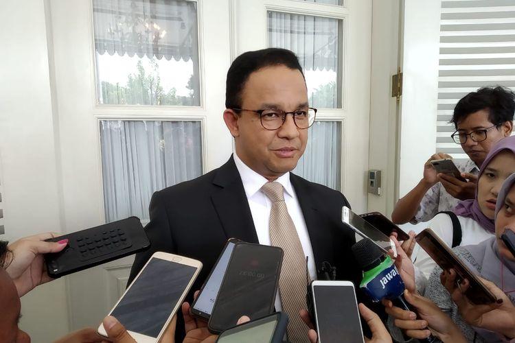 Gubernur DKI Jakarta Anies Baswedan di Balai Kota DKI Jakarta, Selasa (23/4/2019).