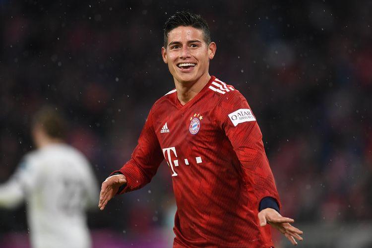James Rodriguez sewaktu dipinjamkan ke Bayern Muenchen selama dua musim