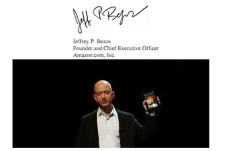 Tanda tangan Jeff Bezos.