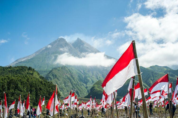 Ilustrasi Indonesia, bendera merah putih