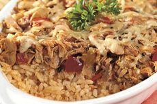 Resep Nasi Panggang Tuna, Pakai Wadah Kaserol