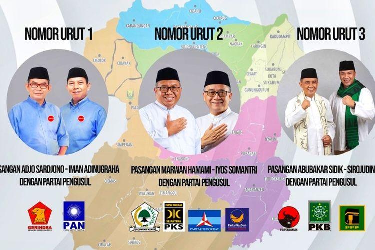 Nomor urut ketiga pasangan calon Pilkada Kabupaten Sukabumi 2020