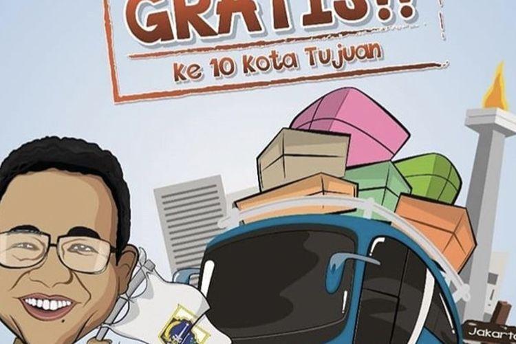 Pemprov DKI Jakarta melalui Dinas Perhubungan (Dishub) DKI Jakarta membuka pendaftaran program mudik gratis, Minggu (28/4/2019) mulai pukul 00.00 WIB.