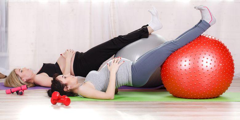 Ilustrasi olahraga selama kehamilan.