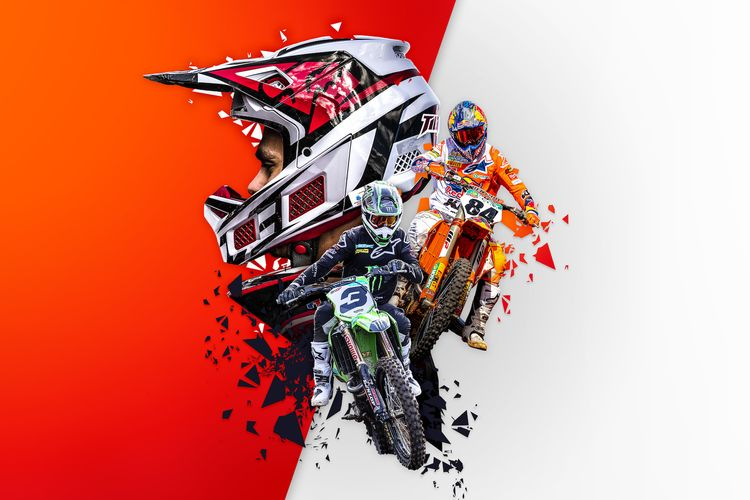 Poster game MGPX 2020 The Official Motocross Videogame.