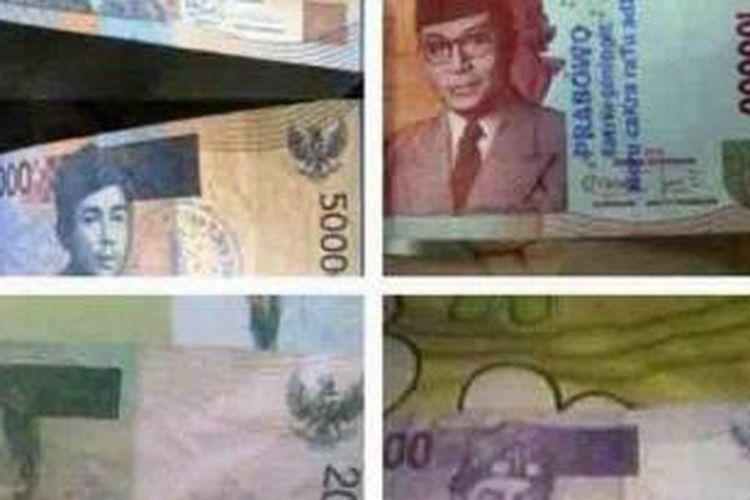 Uang Berstempel Prabowo Beredar di Palembang