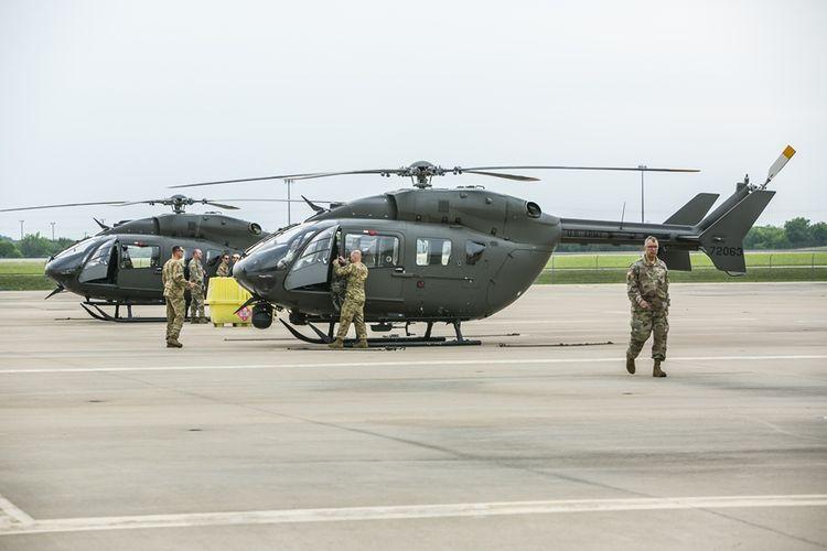 Dua buah helikopter akan turut diberangkat Garda Nasional Negara Bagian Texas menuju perbatasan Meksiko dalam 72 jam ke depan.