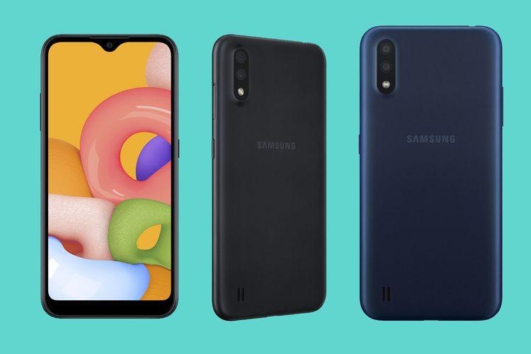 Samsung Indonesia meluncurkan Galaxy A01 dengan sistem operasi Android 10, ditenagai Snapdragon 439, dan dilengkapi dual kamera berkapasitas 13MP+2MP untuk rear camera dan 5MP front camera.