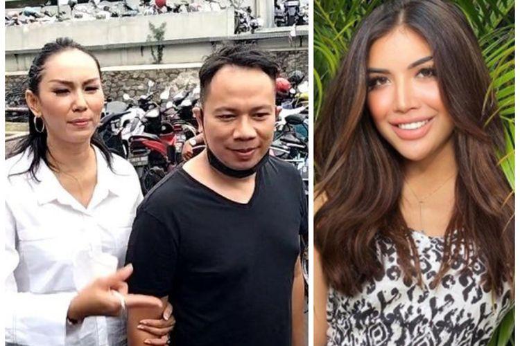 Kolase foto Kalina Ocktaranny dan Vicky Prasetyo, serta Millen Cyrus