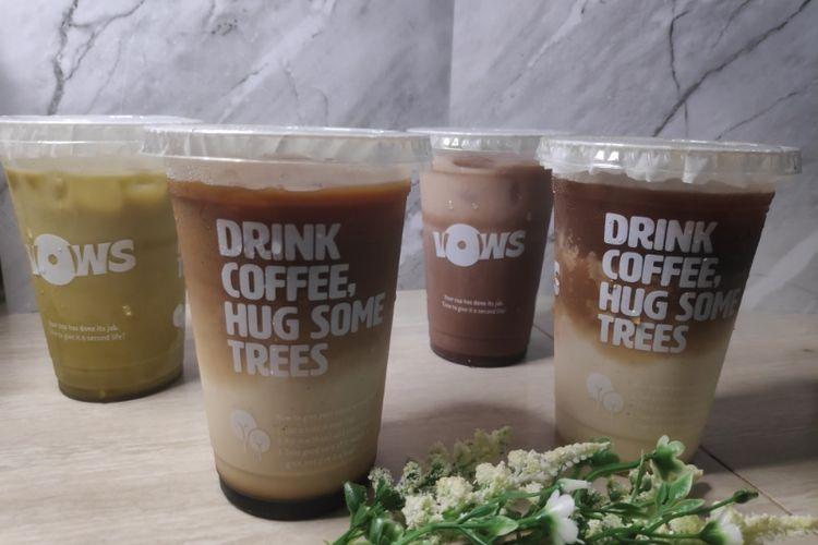 Minuman dari VOWS Coffee.