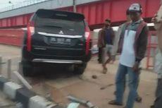 Ngebut, Pajero Tabrak 1 Mobil dan 2 Motor di Jembatan Ampera, 2 Terluka