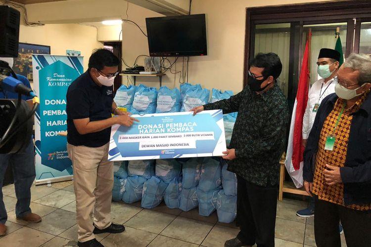 DKK berkolaborasi dengan Dewan Masjid Indonesia mendistribusikan bantuan bagi imam dan marbot masjid, berupa 1.000 paket bahan pokok senilai masing-masing Rp 200.000, 2.000 helai masker kain, dan 2.000 butir vitamin C.