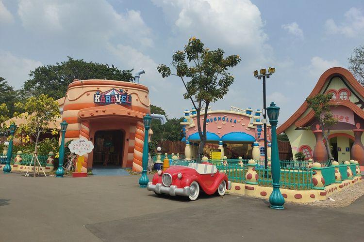Salah satu wahana di area Dunia Kartun, Dunia Fantasi, Ancol, Jakarta Utara, Sabtu (27/6/2020).