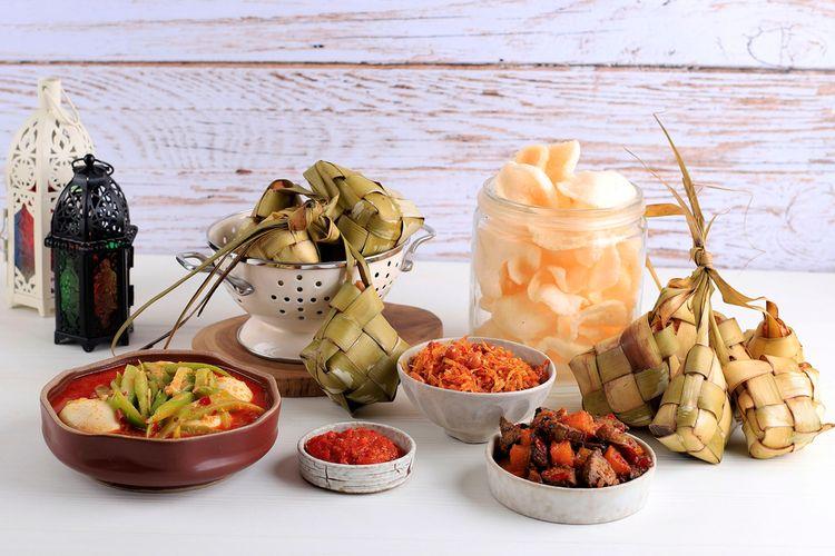 ilustrasi paket makanan Lebaran.