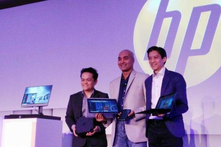 Acara Hewlett Packard (HP) Office of the Future 2017 di Hotel Pan Pasific, Singapura, Jumat (10/3/2017).