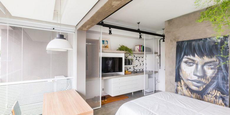 Desain Dapur Sempit Memanjang  apartemen studio ini nyaman seperti hotel