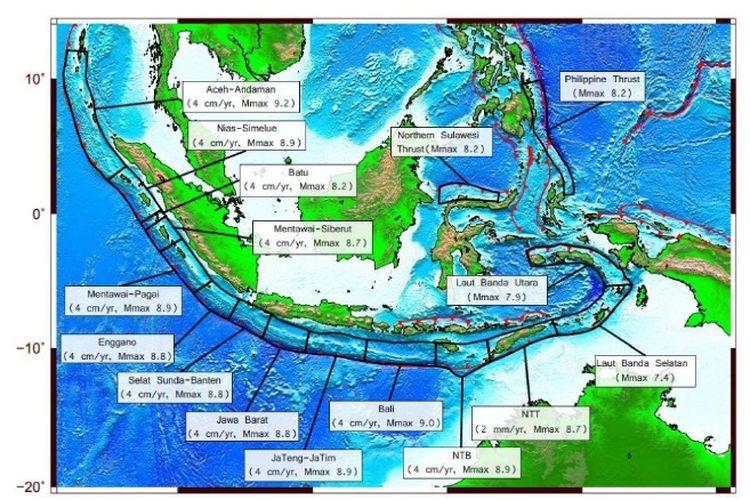 Berdasarkan analisis buku pemutahkhiran sumber dan peta gempa di Indonesia, bila gempa bumi bermagntudo 8,9 terjadi di segmen megathrust Nias Mentawai, kemungkinan besar akan diikuti tsunami. Gelombang tsunami bisa tiba di daratan Kepulaun Nias dalam hitungan kurang dari 7 menit.