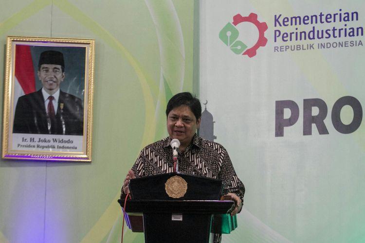 Menperin Airlangga Hartarto di UMS Sukoharjo, Jawa Tengah, Senin (21/5/2018) petang.