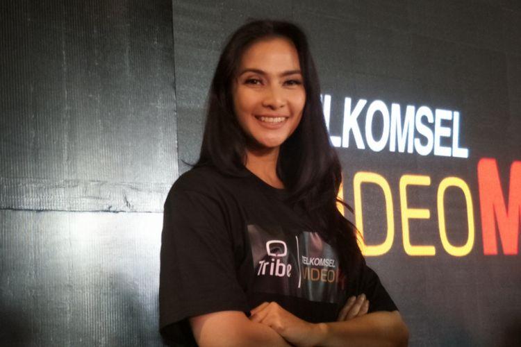 Maudy Koesnaedi dalam dalam peluncuran mini seri Do(s)a di Kaum Restaurant, Jakarta Pusat, Rabu (28/3/2018).